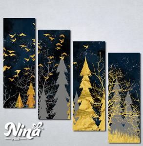 Slike na platnu Šuma apstraktno Nina289_4