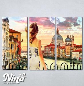 Slike na platnu Venecija kanal Grande Nina317_3