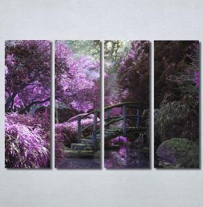 Slike na platnu Vrt i ljubičasto drvo Nina30220_4