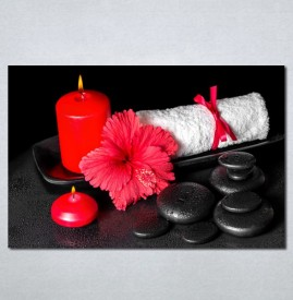 Slike na platnu Wellness spa crveni cvet Nina 182_P
