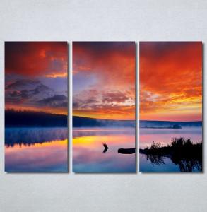 Slike na platnu Zalazak sunca na jezeru Nina30259_3