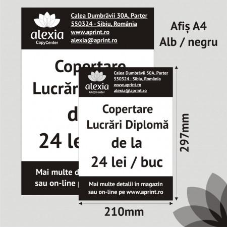 Afis A4 Alb/Negru