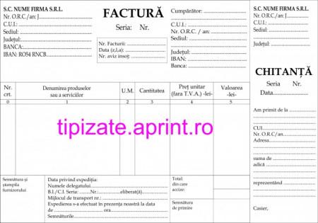 Facturier cu chitantier A5 personalizate