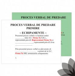 Bloc tipizat autocopiativ dupa modelul clientului