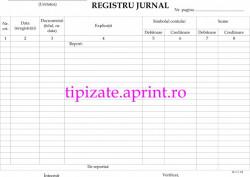 Registru jurnal A4 autocopiativ