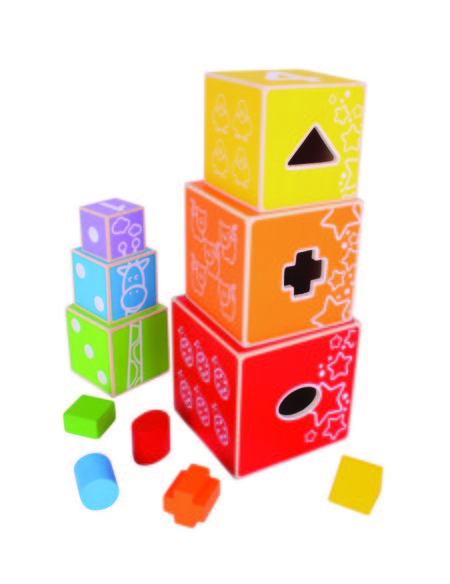 Cuburi colorate pastel