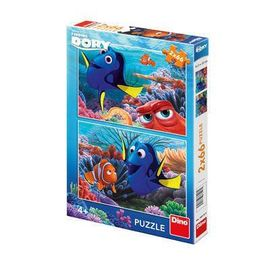 Poze Puzzle 2 in 1 - In cautarea lui Dory (66 piese)