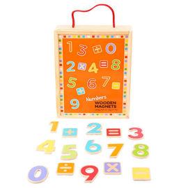 Cifre magnetice din lemn