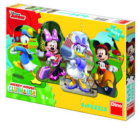 Poze Puzzle 4 in 1 - Mickey si prietenii (54 piese)