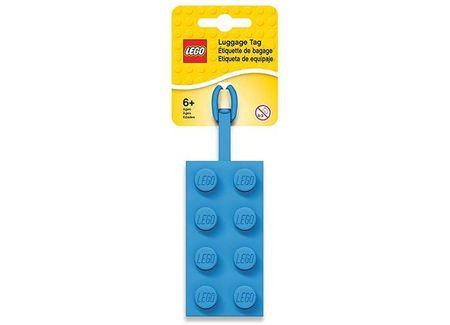 Eticheta bagaje caramida 2x4, albastra (52001)