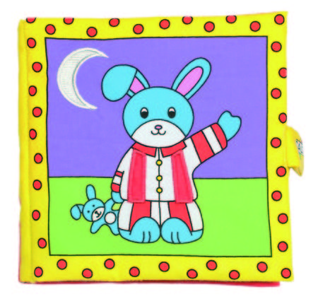 Galt Large Soft Book - Carticica moale Bunny's Bedtime