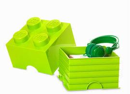 Cutie depozitare LEGO 4 verde deschis