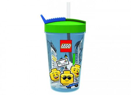 Pahar LEGO Iconic cu pai (40441724)