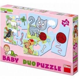 Puzzle in 2 piese - Asocieri