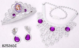 Set diadema si bijuterii (4 piese) - Sofia intai