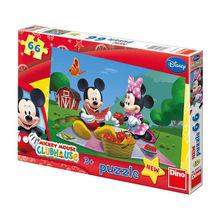 Puzzle - La picnic cu Mickey si Minnie (66 piese)