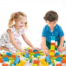 Cuburi colorate de construit - 35  piese