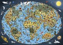 Puzzle - Harta lumii pentru copii (1000 de piese)
