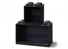 Set 2 rafturi Caramida LEGO - Negru