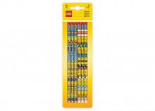 Set 6 creioane grafit cu radiera LEGO (51140)