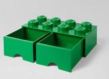 Cutie depozitare LEGO 2x4 cu sertare, verde (40061734)