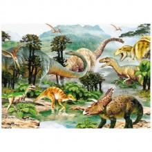 Puzzle - Era dinozaurilor (100 piese)