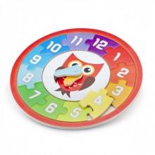 Puzzle lemn ceas - Bufnita