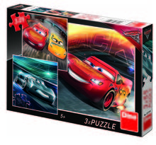 Puzzle 3 in 1 - Cars (3 x 55 piese)