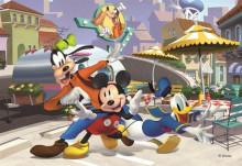 Puzzle - Mickey si prietenii la terasa (24 piese)