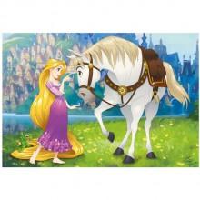 Puzzle - Rapunzel si calutul Maximus (24 piese)