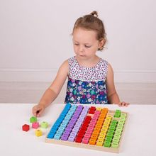 Tabla cu 100 de numere colorate