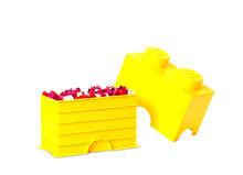 Cutie depozitare LEGO 1x2 galben (40021732)