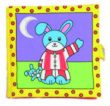 Galt Large Soft Book - Carticica moale Bunny's Bedtime