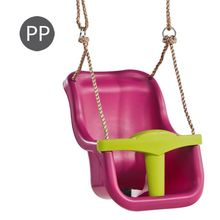 Leagan Baby Seat LUXE Culoare: purple (RAL4006)/lime green, franghie: PP 10