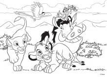 Puzzle de colorat maxi - Regele leu (24 piese)