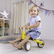 Tricicleta fara pedale din lemn girafa