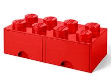 Cutie depozitare LEGO 2x4 cu sertare, rosu (40061730)
