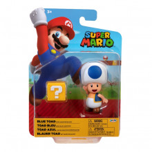 FIGURINA MARIO NINTENDO 10 CM BLUE TOAD QUESTION BLOCK