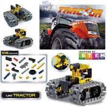 Set STEM 10 in 1 - Tractor cu LED