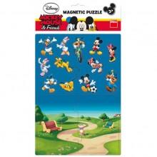 Puzzle magnetic - Mickey si prietenii (16 piese)