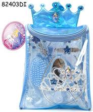 Rucsac cu accesorii pentru par 8 piese - Cinderella