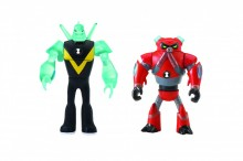 BEN 10 MINI FIGURINE EXTRATERESTRE MIX & MATCH (2 BUC) - Cap de Diamant & Overflow
