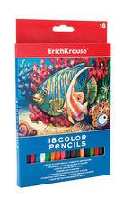 Creioane colorate hexagonale - set 18 culori