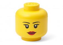 Mini cutie depozitare cap minifigurina LEGO fata