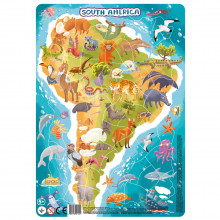Puzzle cu rama - America de Sud (53 piese)