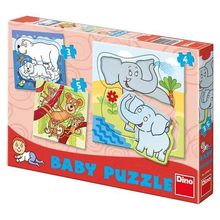 Set de puzzle-uri - Zoo (3-5piese)