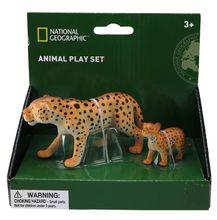 Set 2 figurine - Leopardul si puiul