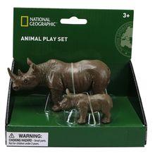 Set 2 figurine - Rinocerul si puiul