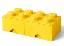 Cutie depozitare LEGO 2x4 cu sertare, galben (40061732)
