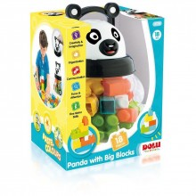 Joc de constructie - Panda (18 piese)